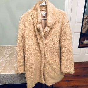 H&M LONG TEDDY FUR COAT